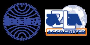 Logo for VTI's A2LA-accredited calibration laboratory.