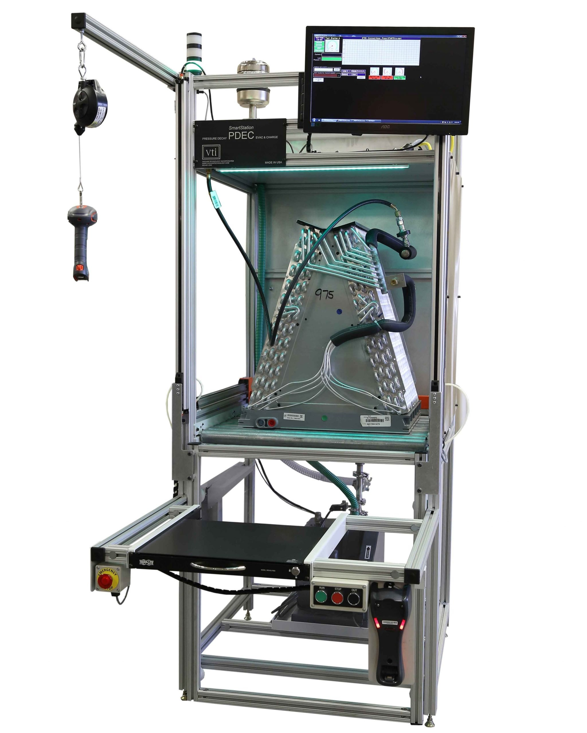 VTI's A-Coil Pressure Decay Tester for A-Coil Manufacturing