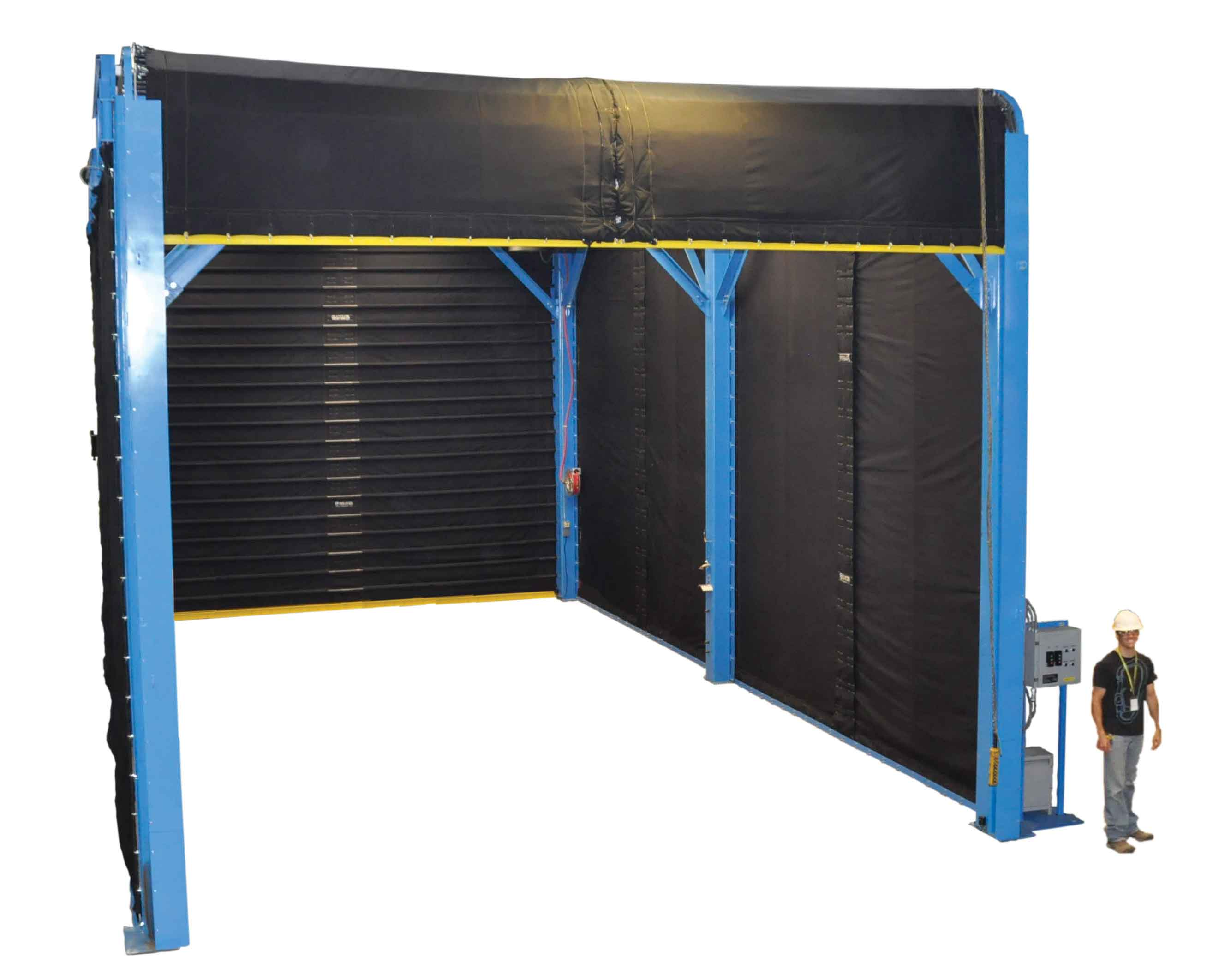VTI's Chiller Proof & Leak Test Blast Booth for Chiller Manufacturing