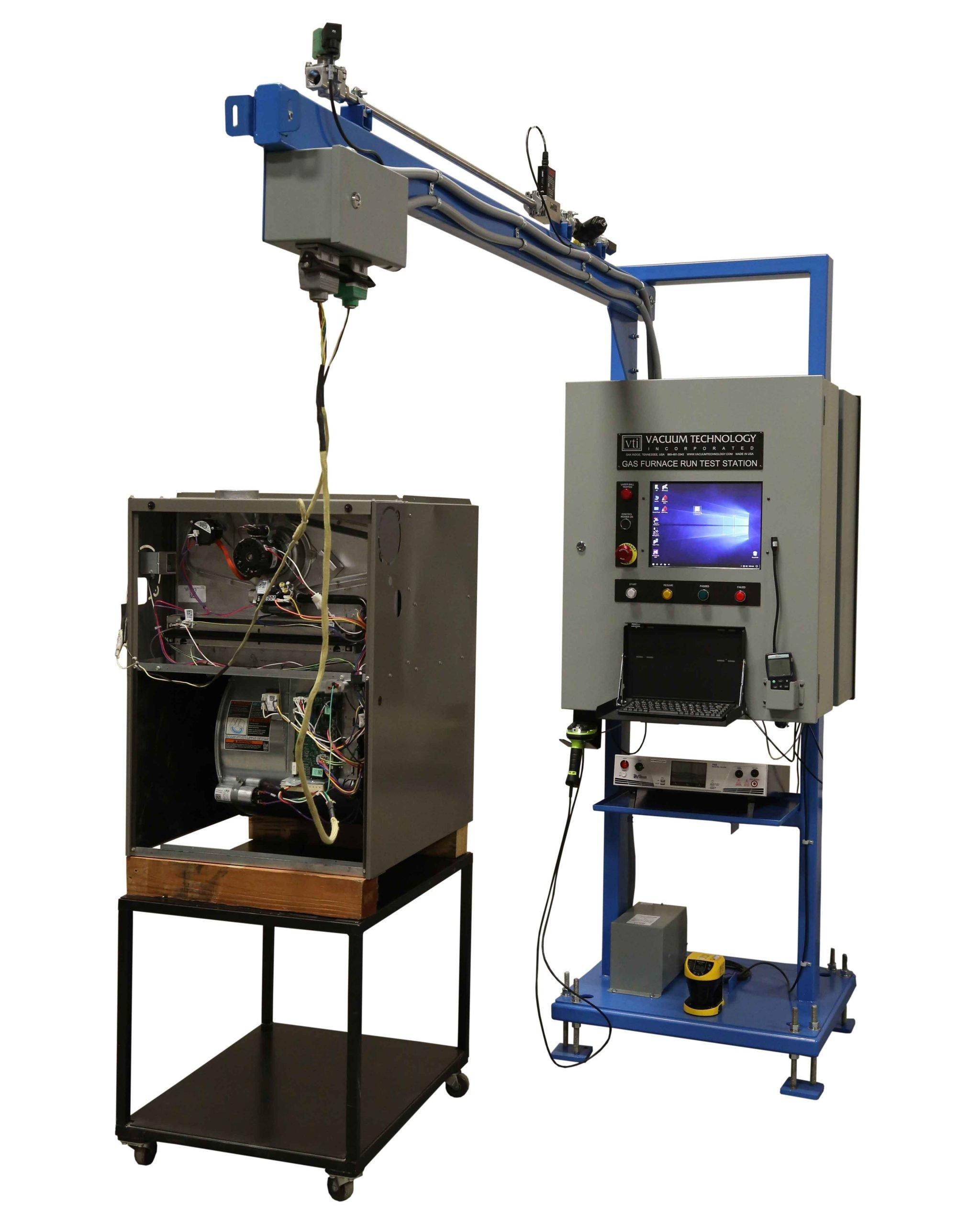 VTI's Gas Furnace Run Tester for Gas Furnace Manufacturing