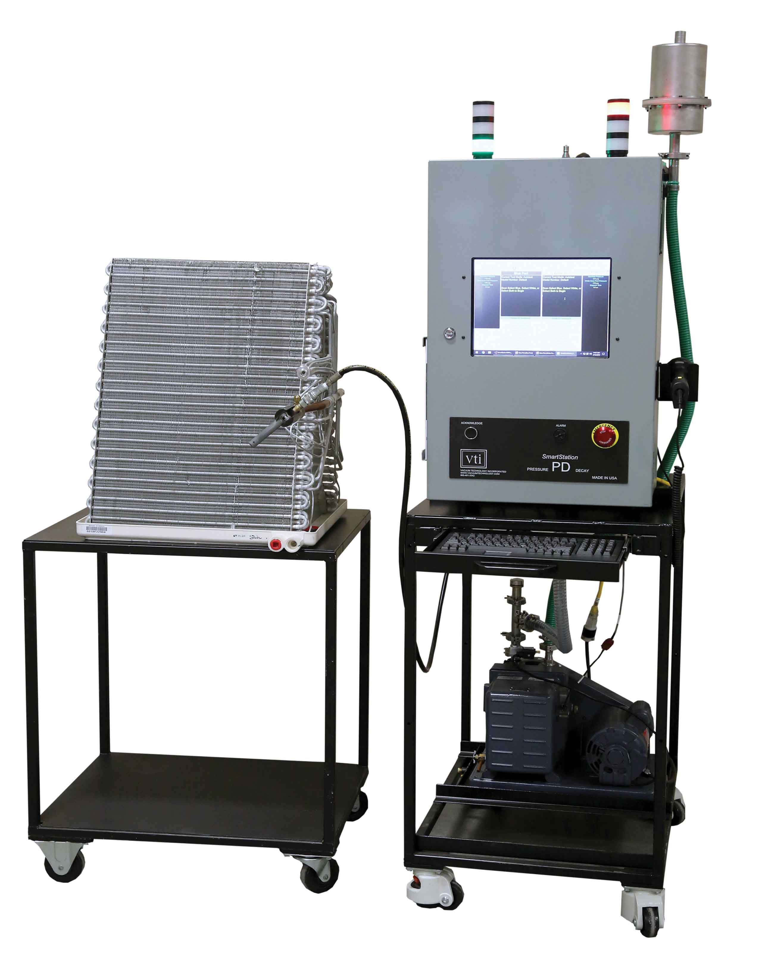VTI's Pressure Decay, Evacuation, and Charge (PDPlus2) System for A-Coil Manufacturing