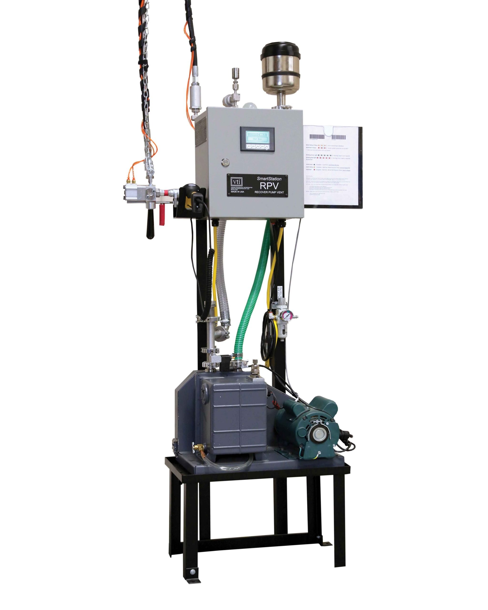 VTI's Recovery, Pump, and Vent (RPV) SmartStation Unit for A-Coil and Condensing Unit Manufacturing