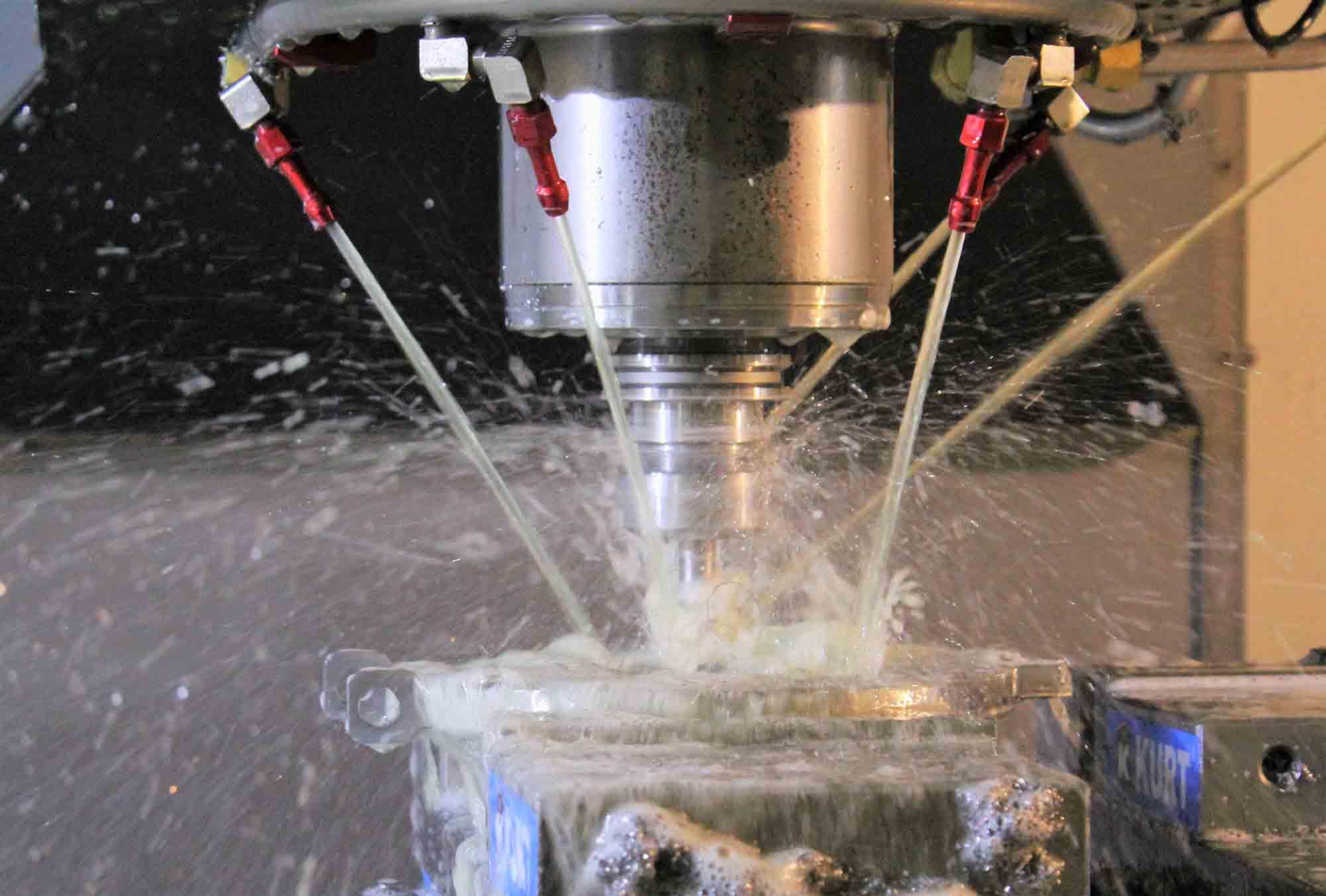VTI CNC Milling - Coolant On & Machine Running