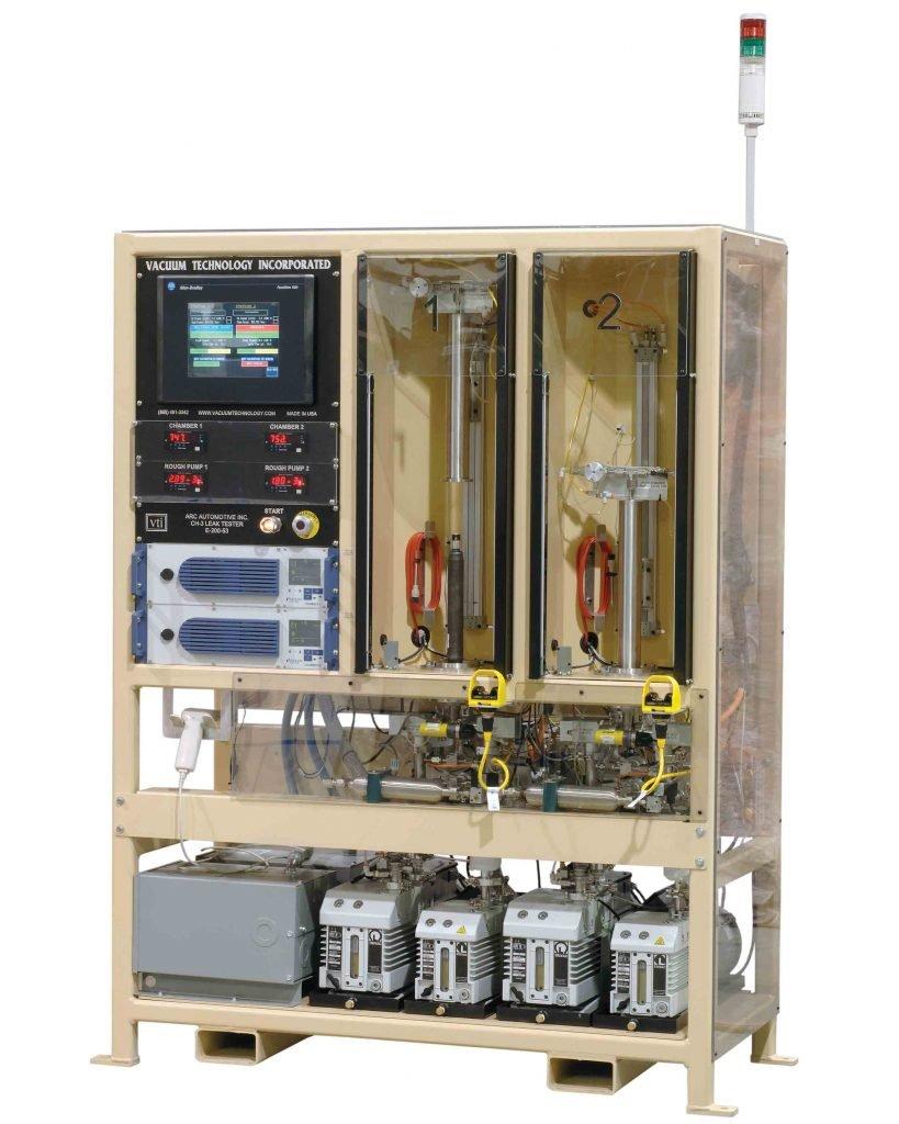 VTI's Airbag Inflator Helium Leak Test System