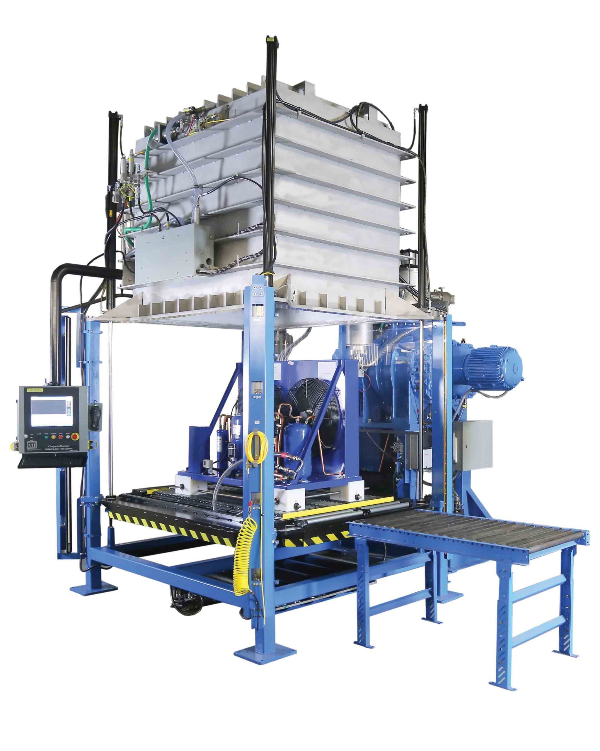 VTI's Charge-In-Chamber HLTS with Helium Recovery for Condensing Unit Manufacturing
