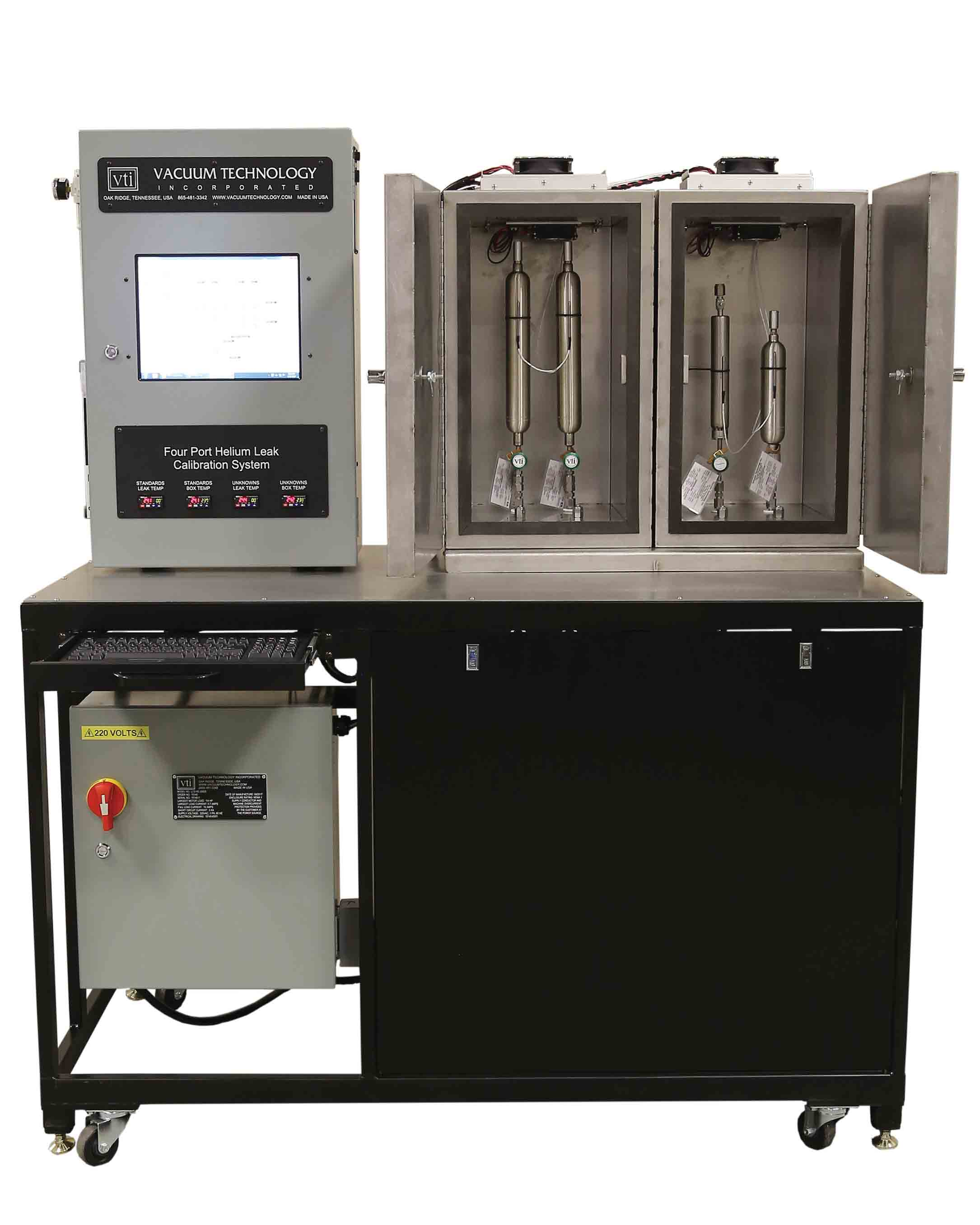 VTI's Four Port Helium Leak Comparison Calibration System