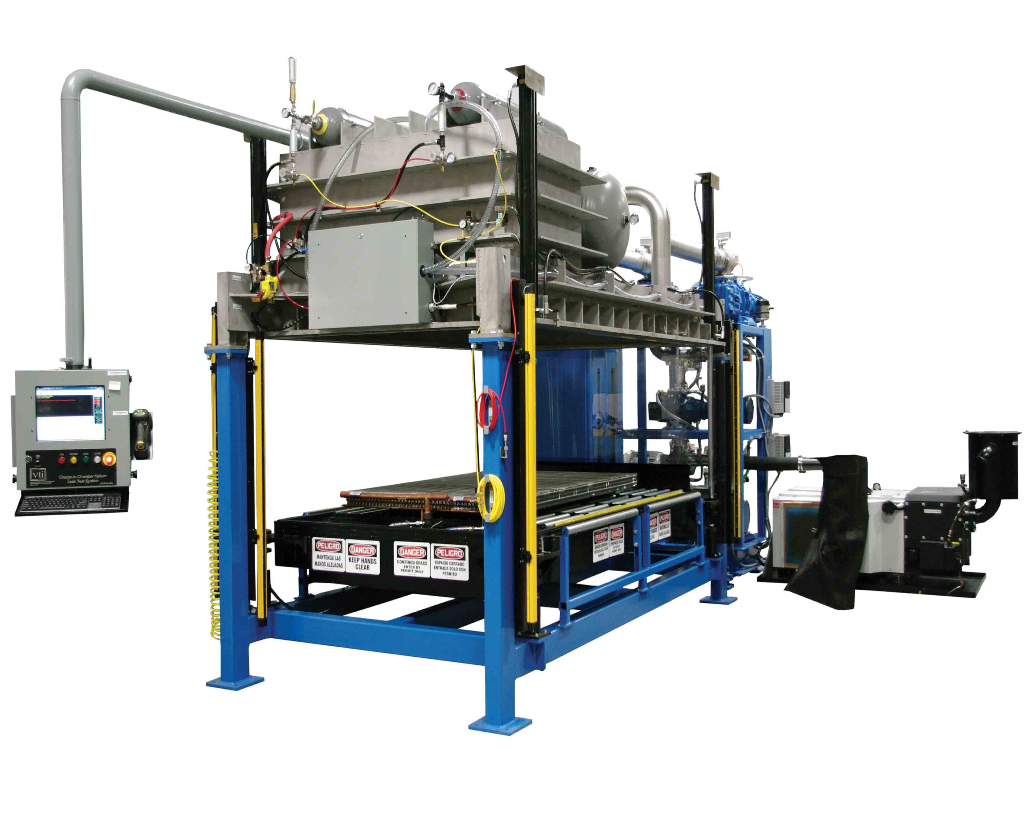 VTI's Large Slab Heat Exchanger Charge-In-Chamber Leak Test System for Slab Coil Manufacturing