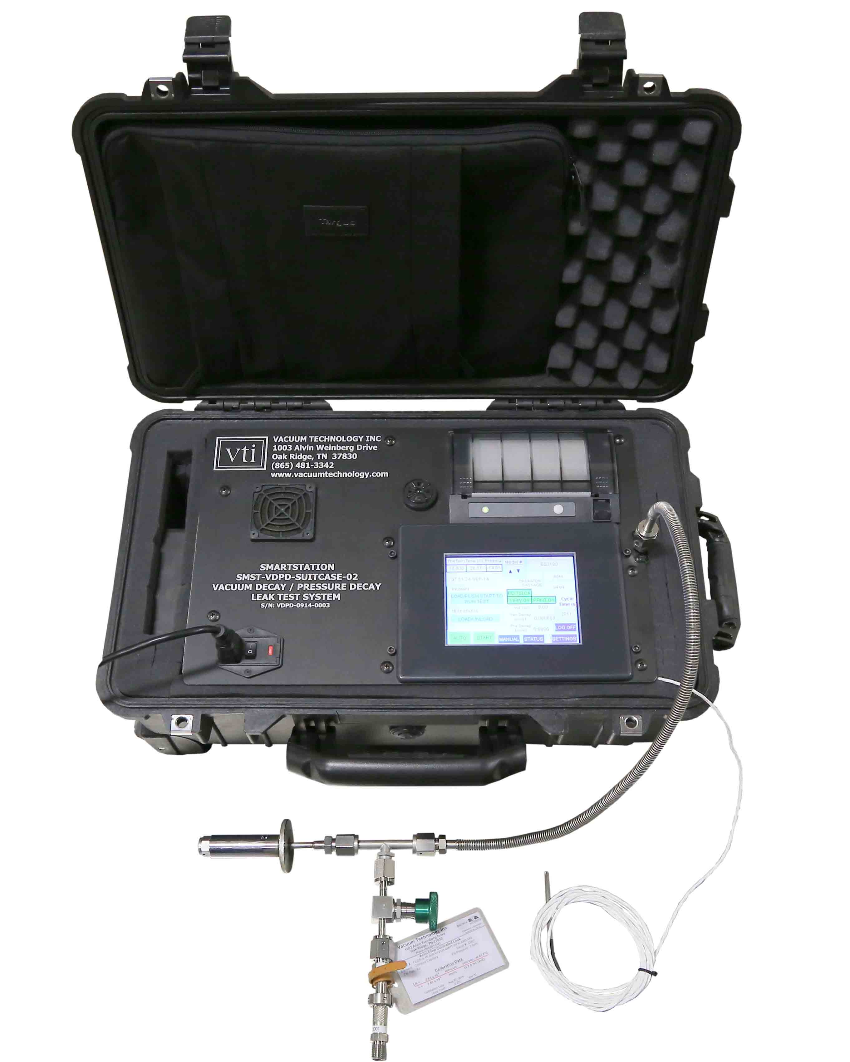 VTI's Suitcase Portable Vacuum Decay and Pressure Decay Leak Tester