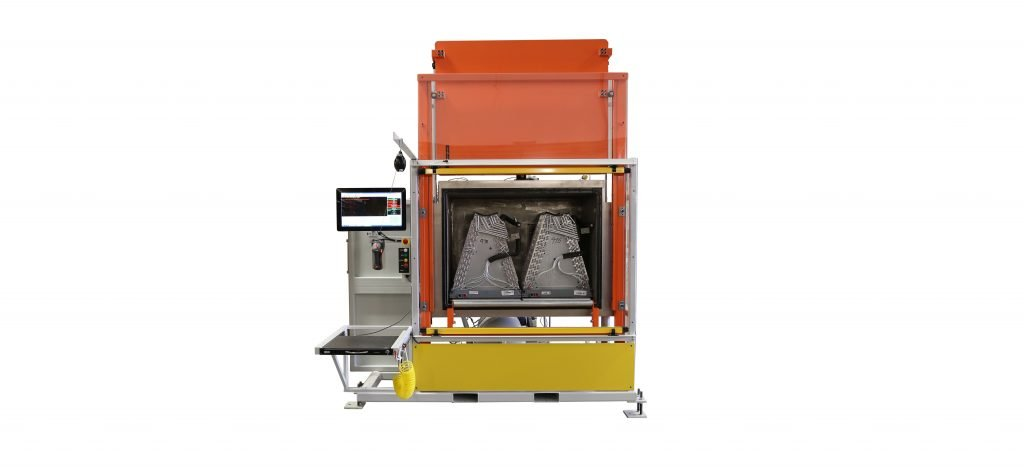 An alternative leak testing system that employs a vacuum chamber