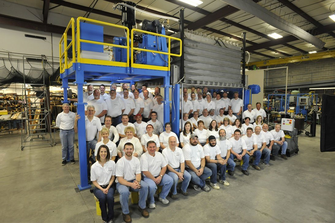 A team photo for Vacuum Technology Incorporated