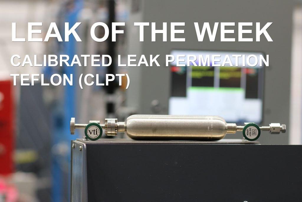 A calibrated leak produced at VTI's calibration laboratory