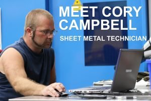 Cory Campbell, a Sheet Metal Technician at Vacuum Technology Incorporated (VTI), supports world-leading vacuum science with quality metalwork and charcuterie.