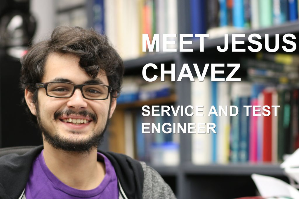 Jesus Chavez, a Service and Test Engineer at Vacuum Technology Incorporated (VTI), designs vacuum systems and leak detection equipment.