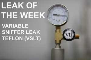 The Variable Sniffer Leak Teflon (VSLT) calibrated leak helps operators quickly calibrate their sniffer leak detectors.